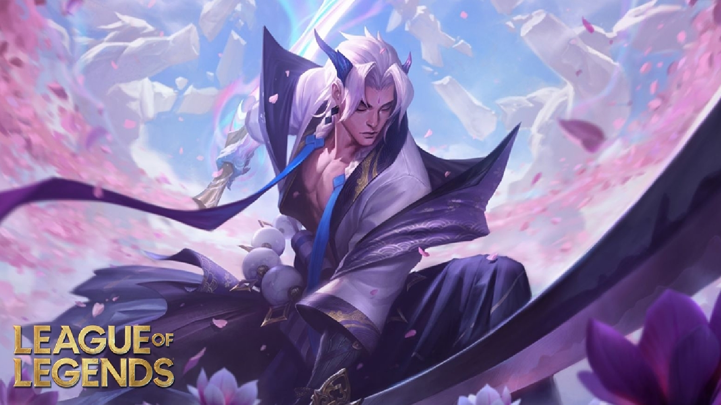 Yone in spirit blossom skin from league of legends