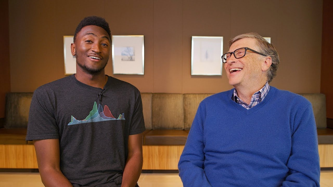 Bill Gates and Marques Brownlee