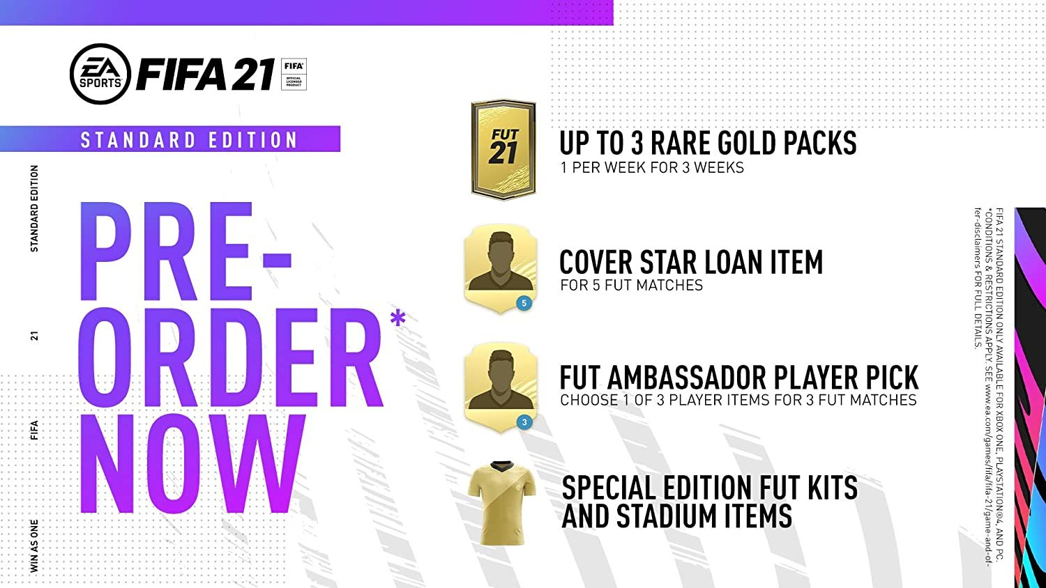 FIFA 21 Standard Edition pre-order rewards