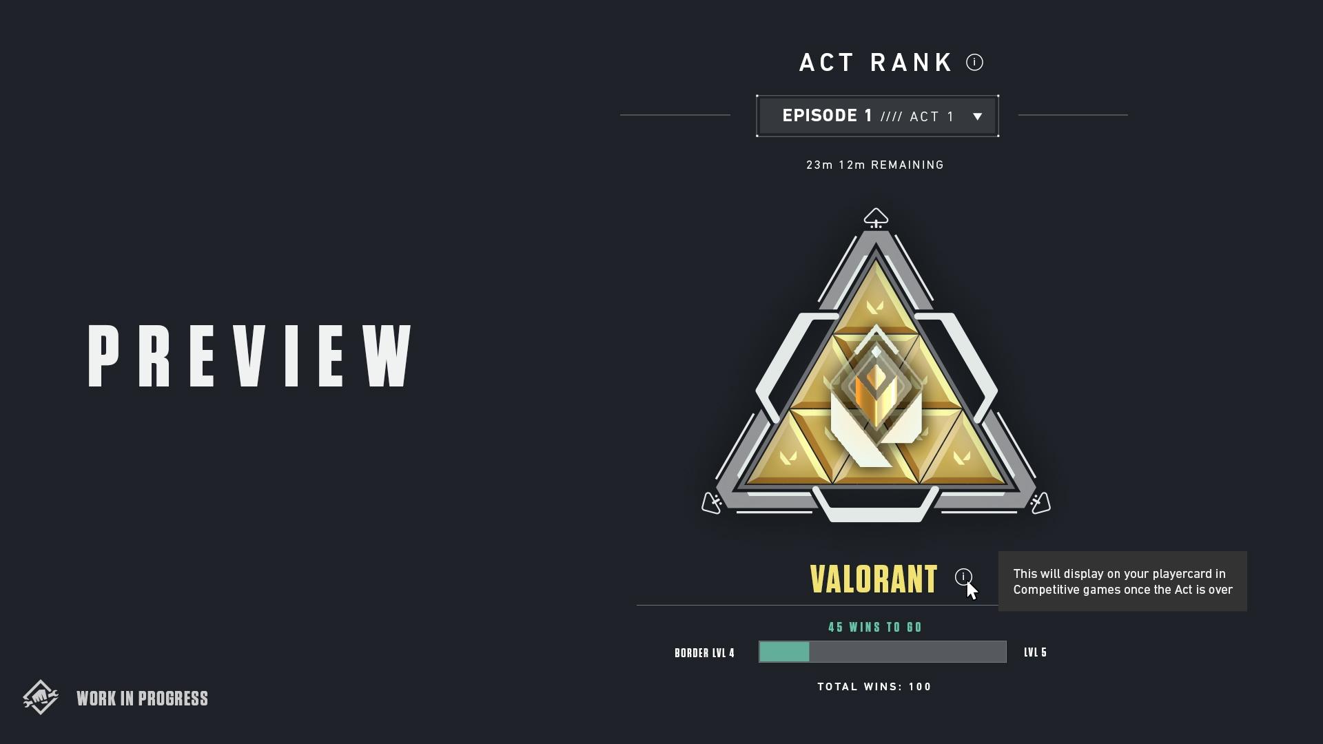 Valorant's act rank badge