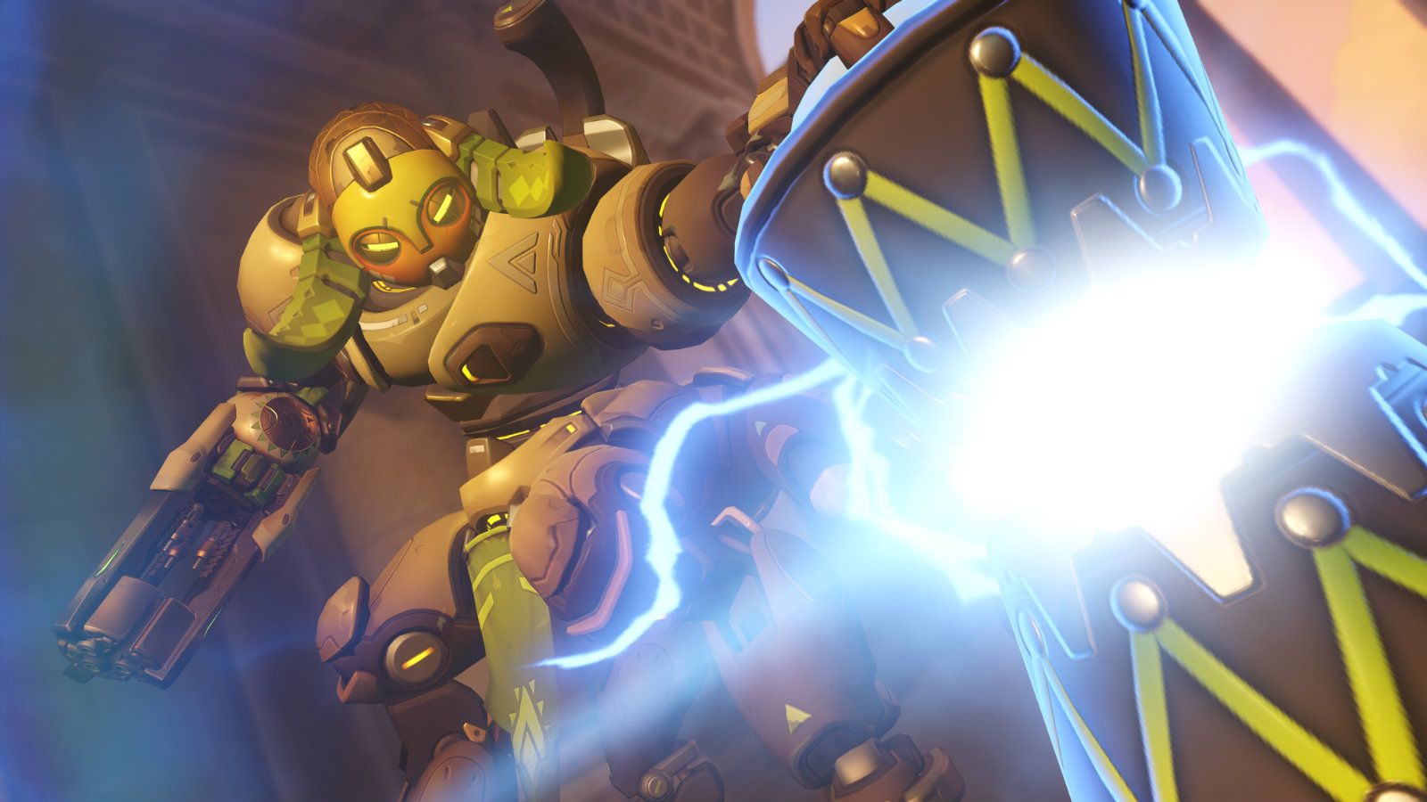 Orisa places down Super Charger in Overwatch