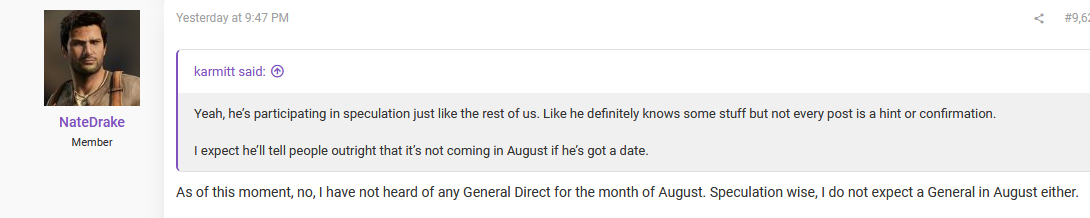 NateDrake comments on August direct