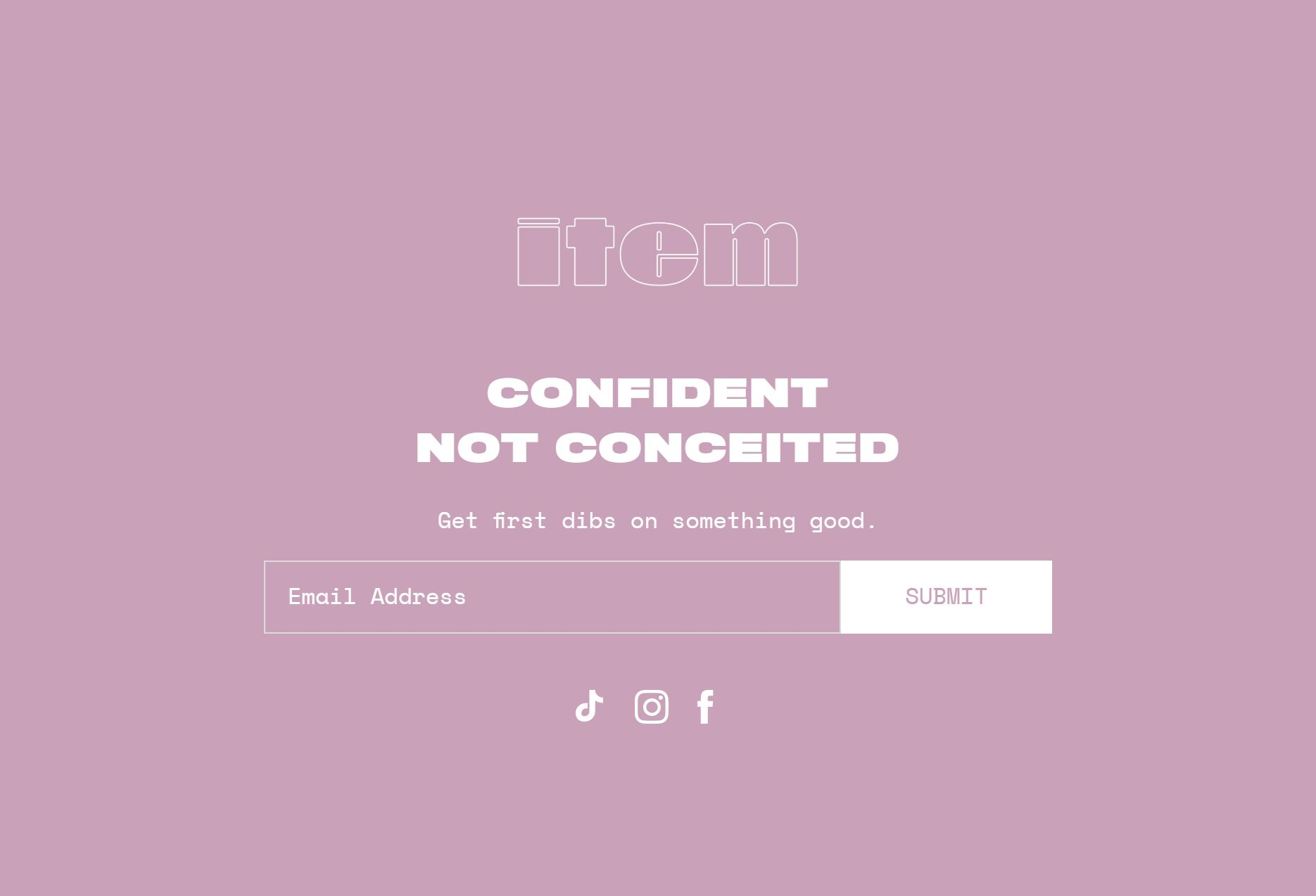 Addison Rae's ITEM Beauty website portal.