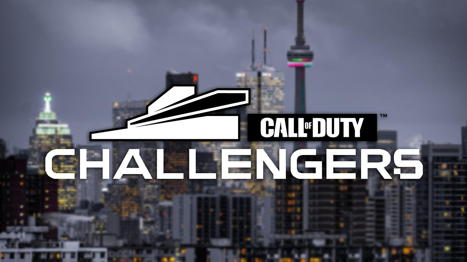 Toronto backdrop Call of Duty Challengers logo