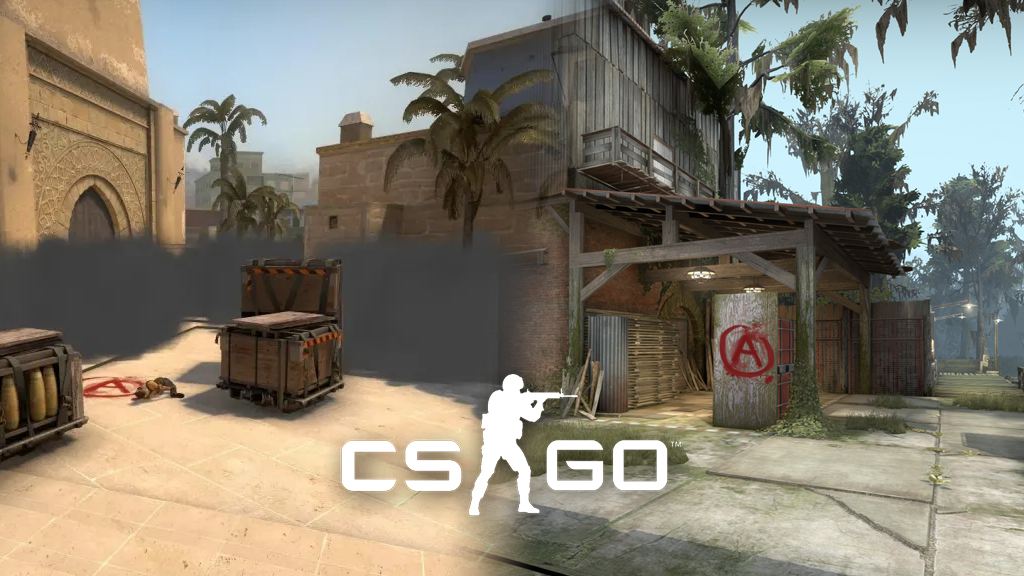 Smokes on mirage and Swamp A site from CSGO