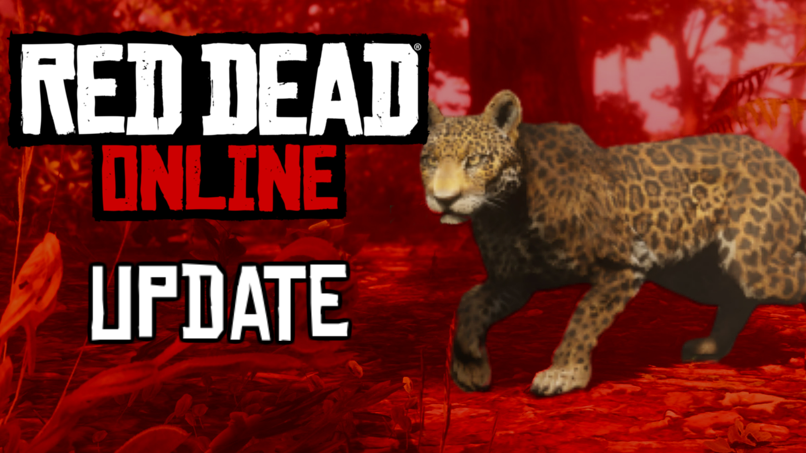 Red Dead Online logo with red background