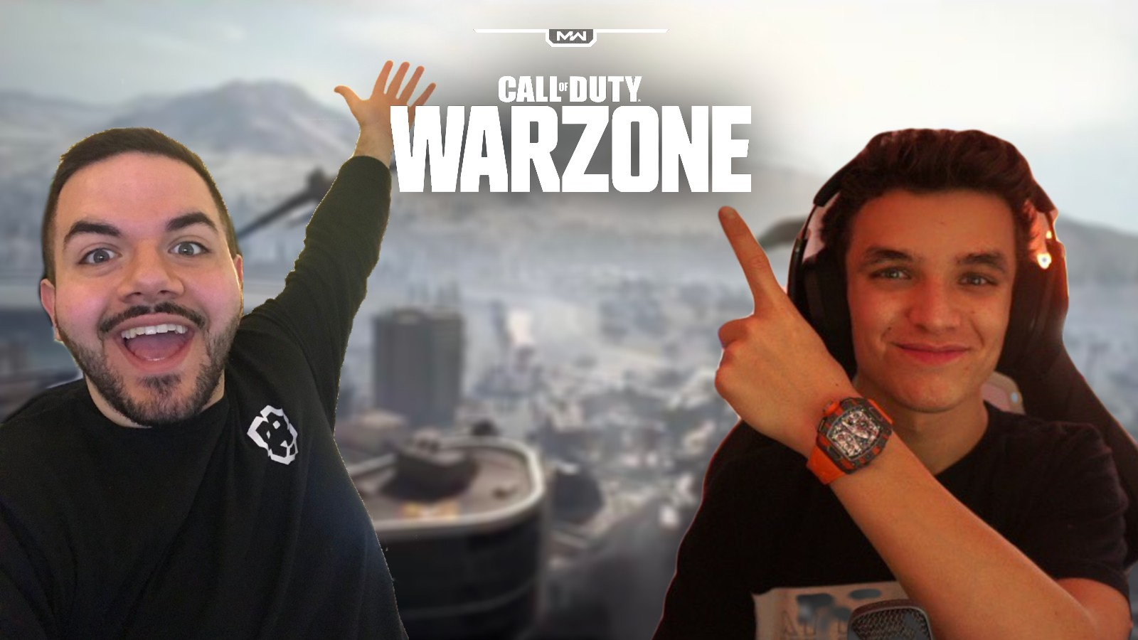 CouRageJD and Lando Norris on Warzone