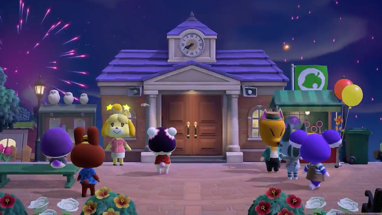 Animal Crossing Wave 2 update fireworks