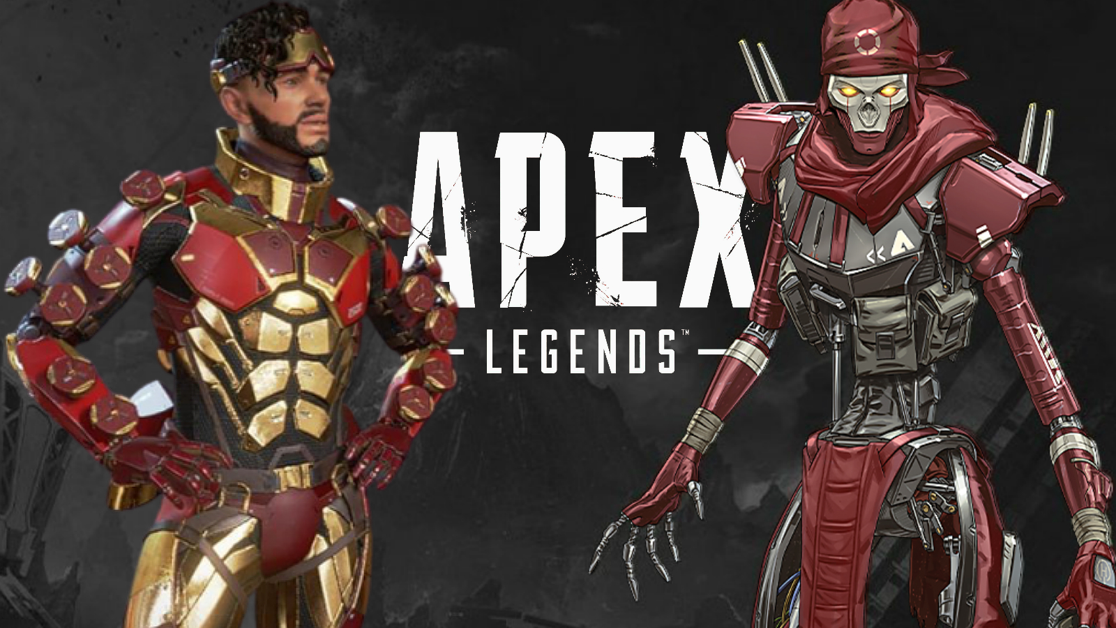 Mirage and Revenant on black background with Apex Legends logo