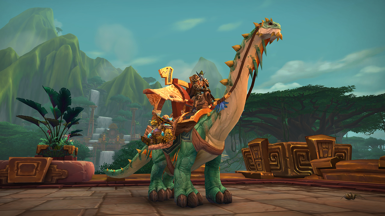 The Mighty Caravan Brutosaur mount can currently be bought for 5 million in-game gold.