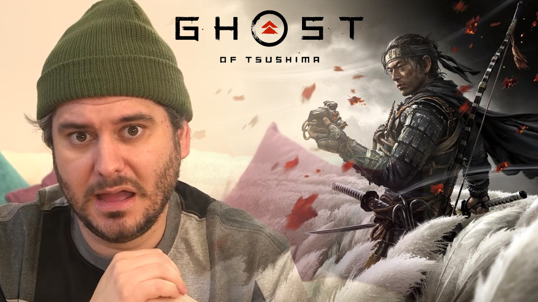 Ethan Klein next to Ghost of Tsushima