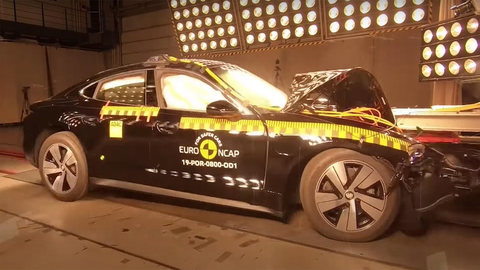 Porsche Taycan Crash Tested