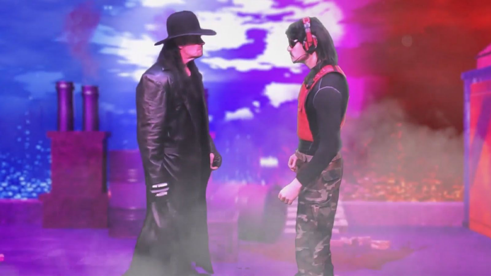 Dr Disrespect and The Undertaker face off