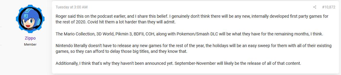 Zippo comments on Nintendo rumors