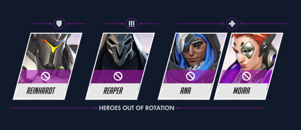 Reinhardt, Reaper, Ana, and Moira banned in Overwatch Hero Pool