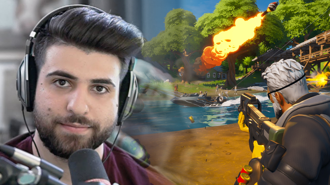 SypherPK next to Fortnite CHapter 2