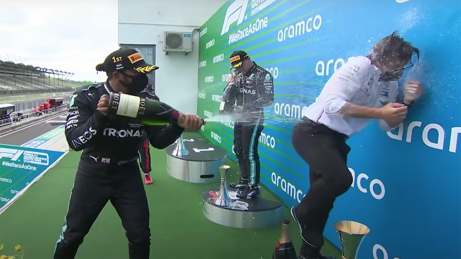 F1 Hungarian GP Celebrations