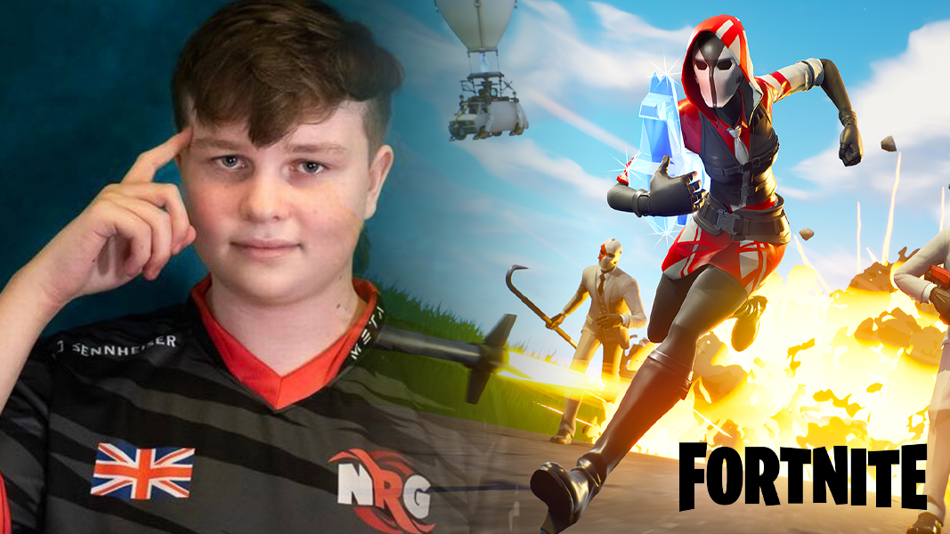 Benjyfishy next to Fortnite Chapter 2 and logo