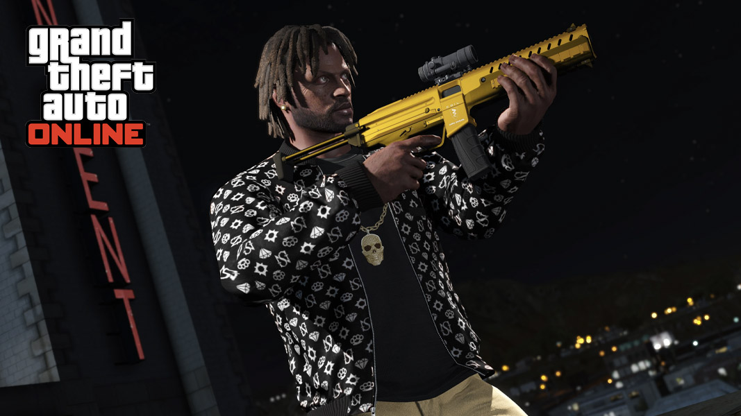 GTA Character with a PDW