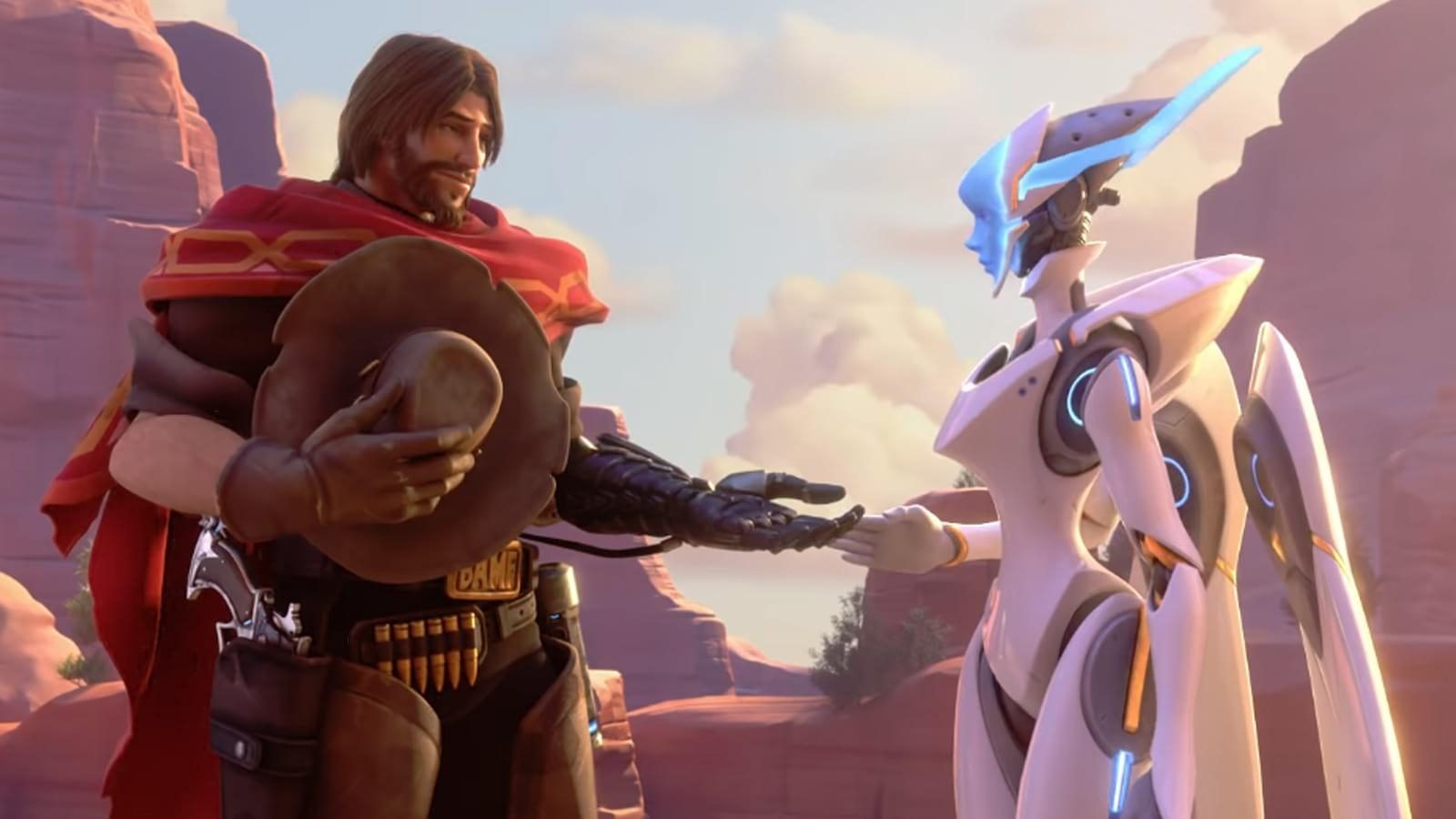 Overwatch's McCree and Echo on Route 66
