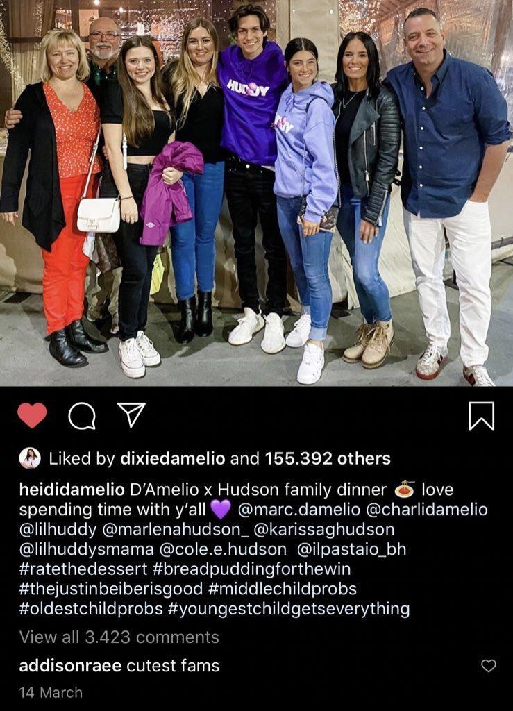 Heidi D'Amelio Instagram post