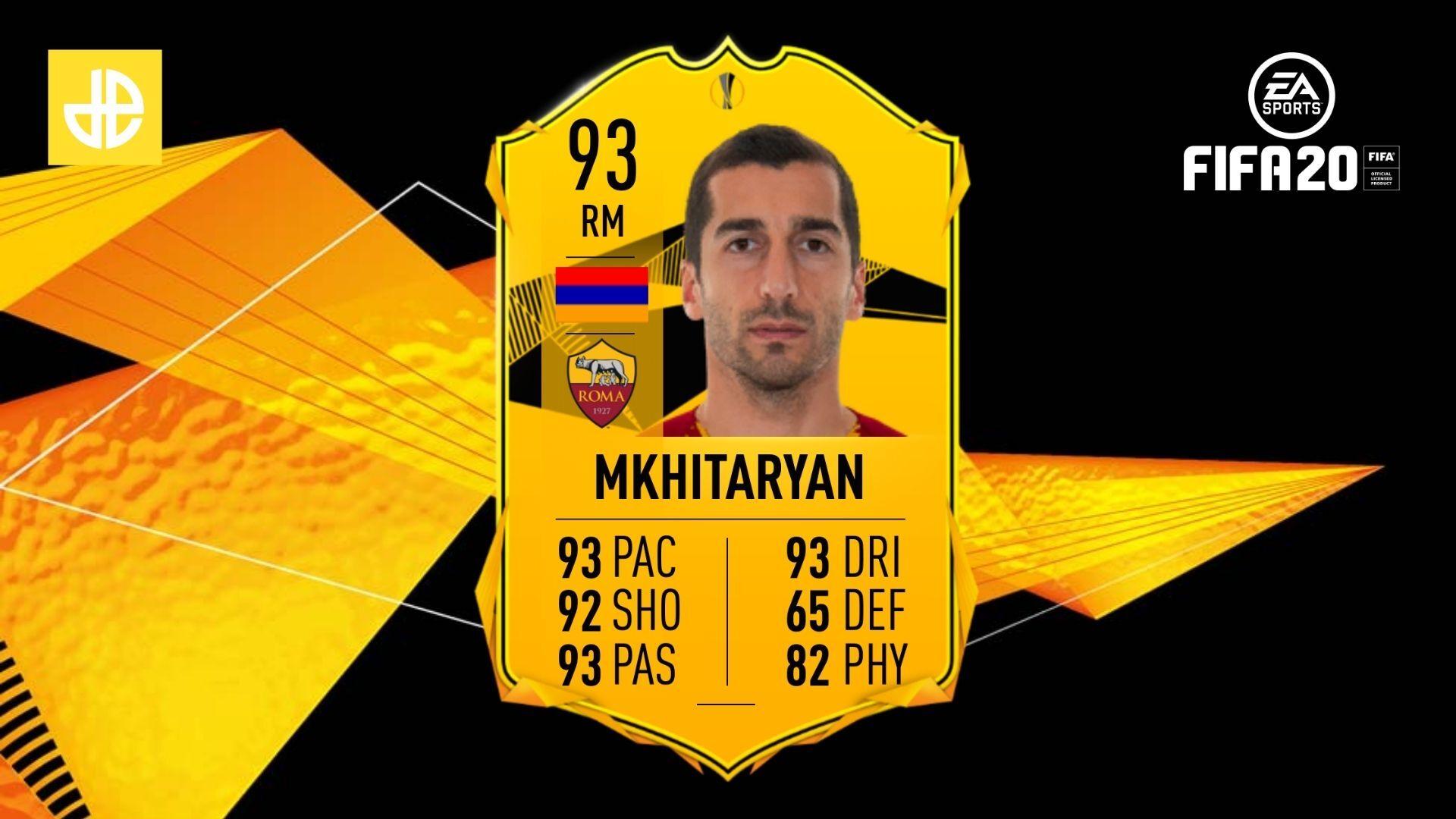 Henrikh Mkhitaryan RTTF SBC FIFA 20 FUT header