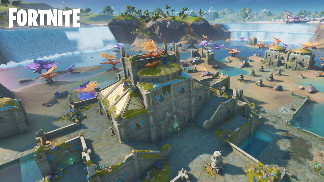 Part of the Coral Castle Fortnite POI