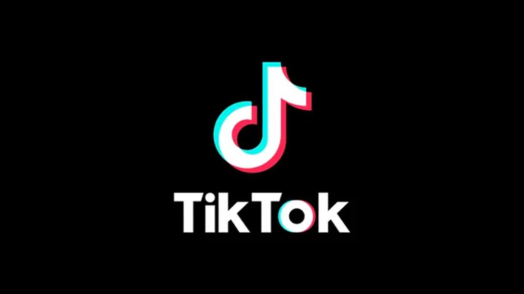 TikTok logo on a black bakground