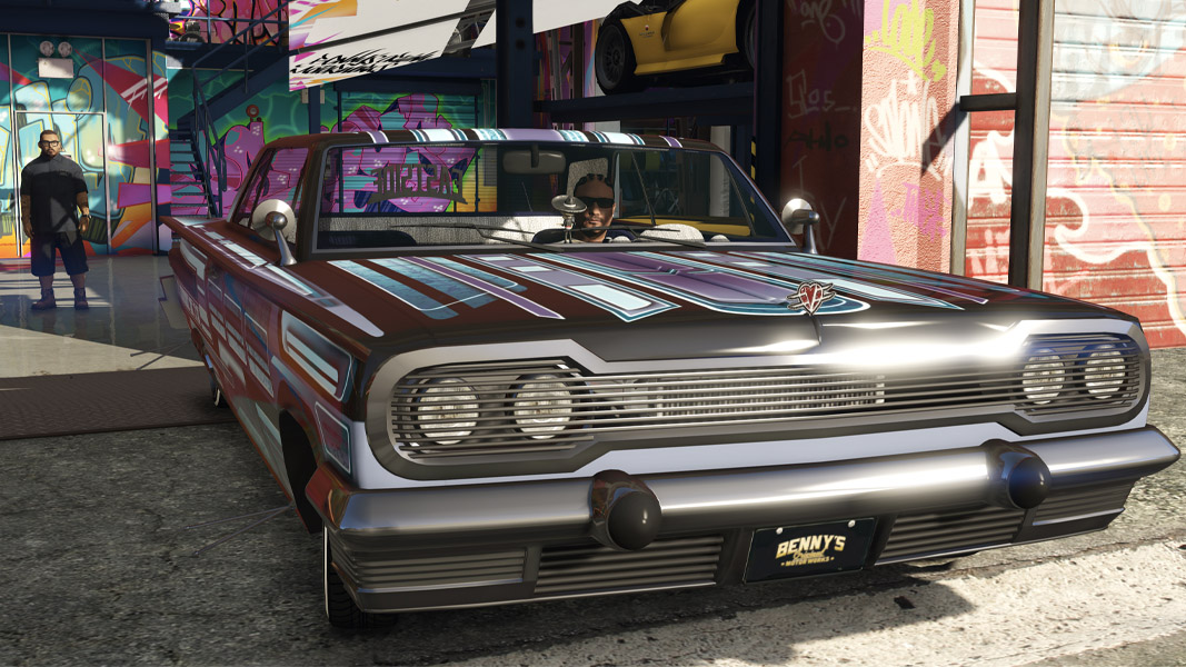A lowrider from GTA Online