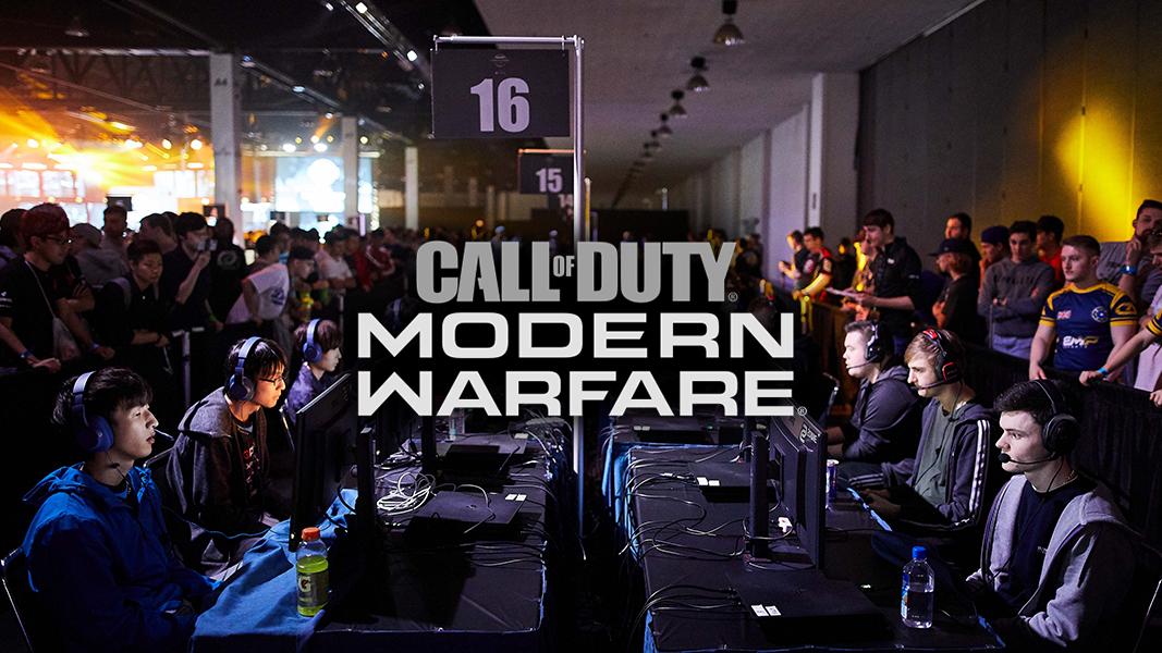 Modern warfare logo with call of duty Lan event