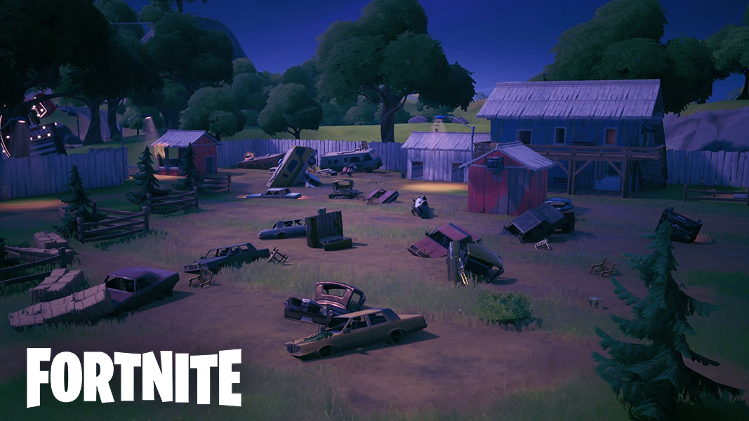 Risky reels poi at night with fortnite logo