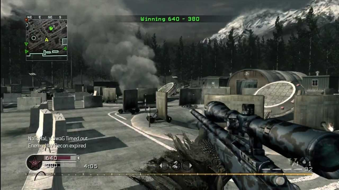 r700 sniper in Call of Duty 4 map