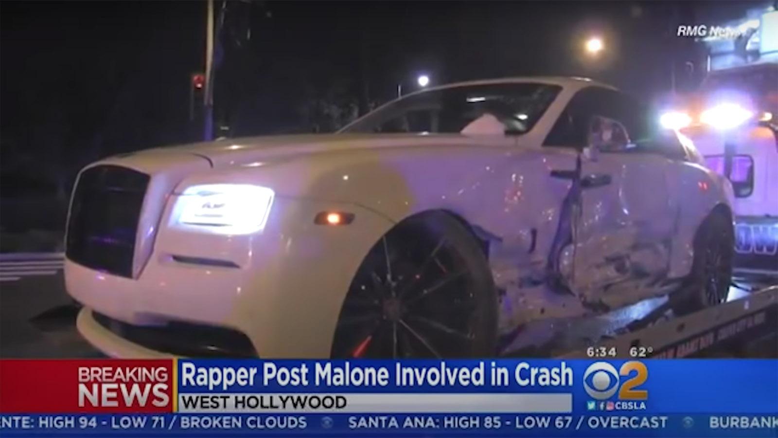 Post Malone Rolls Royce Crash