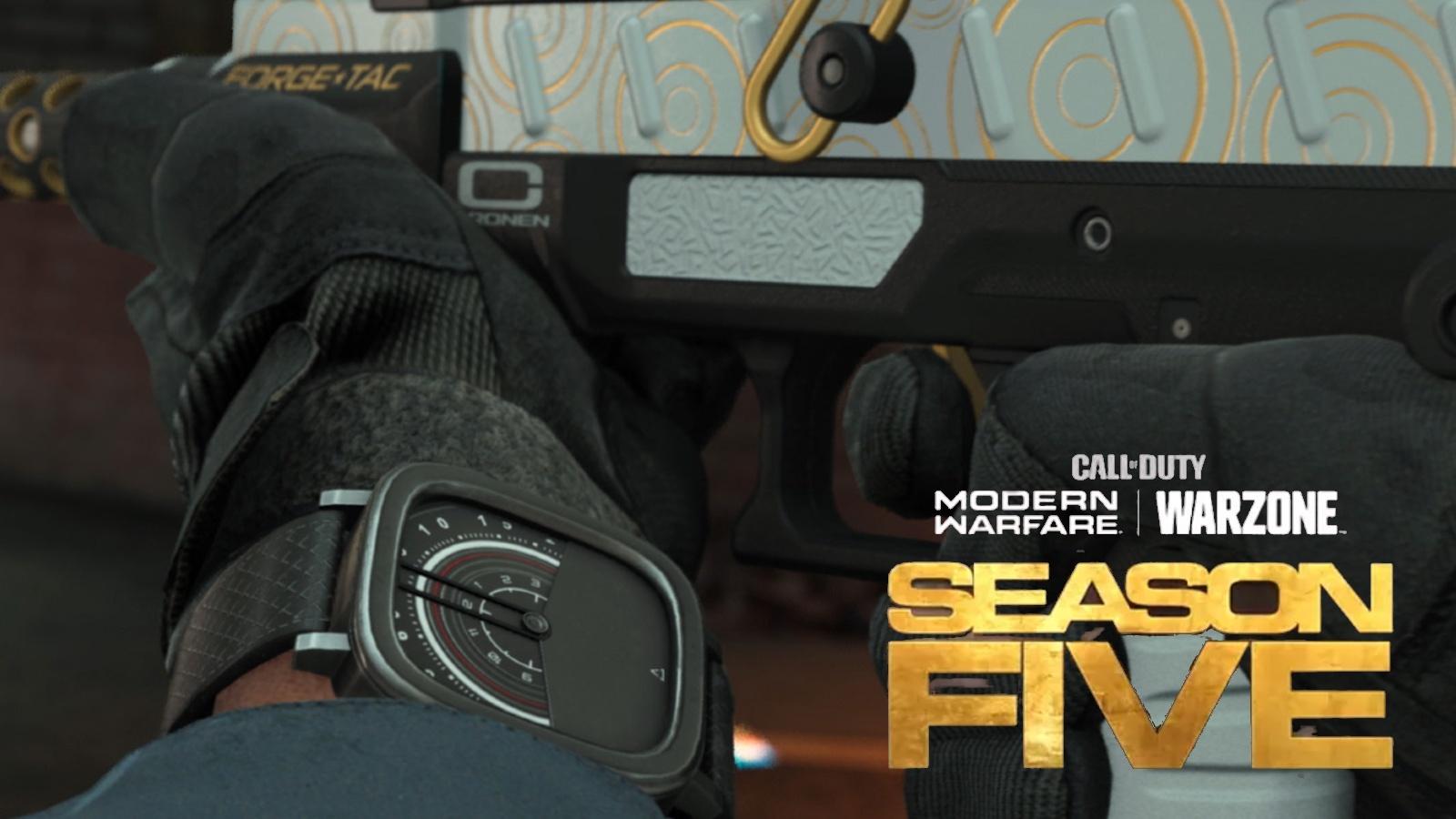 Modern Warfare Warzone Season 5 watch and gun