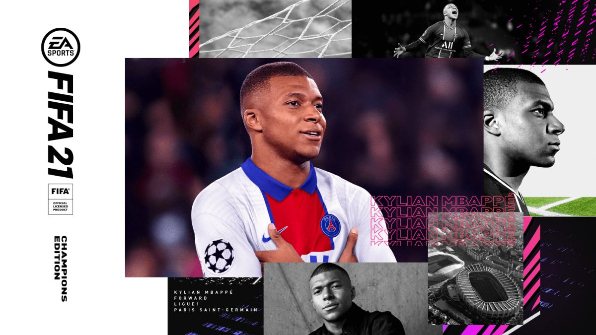 Kylian Mbappe FIFA 21 Champions Edition cover