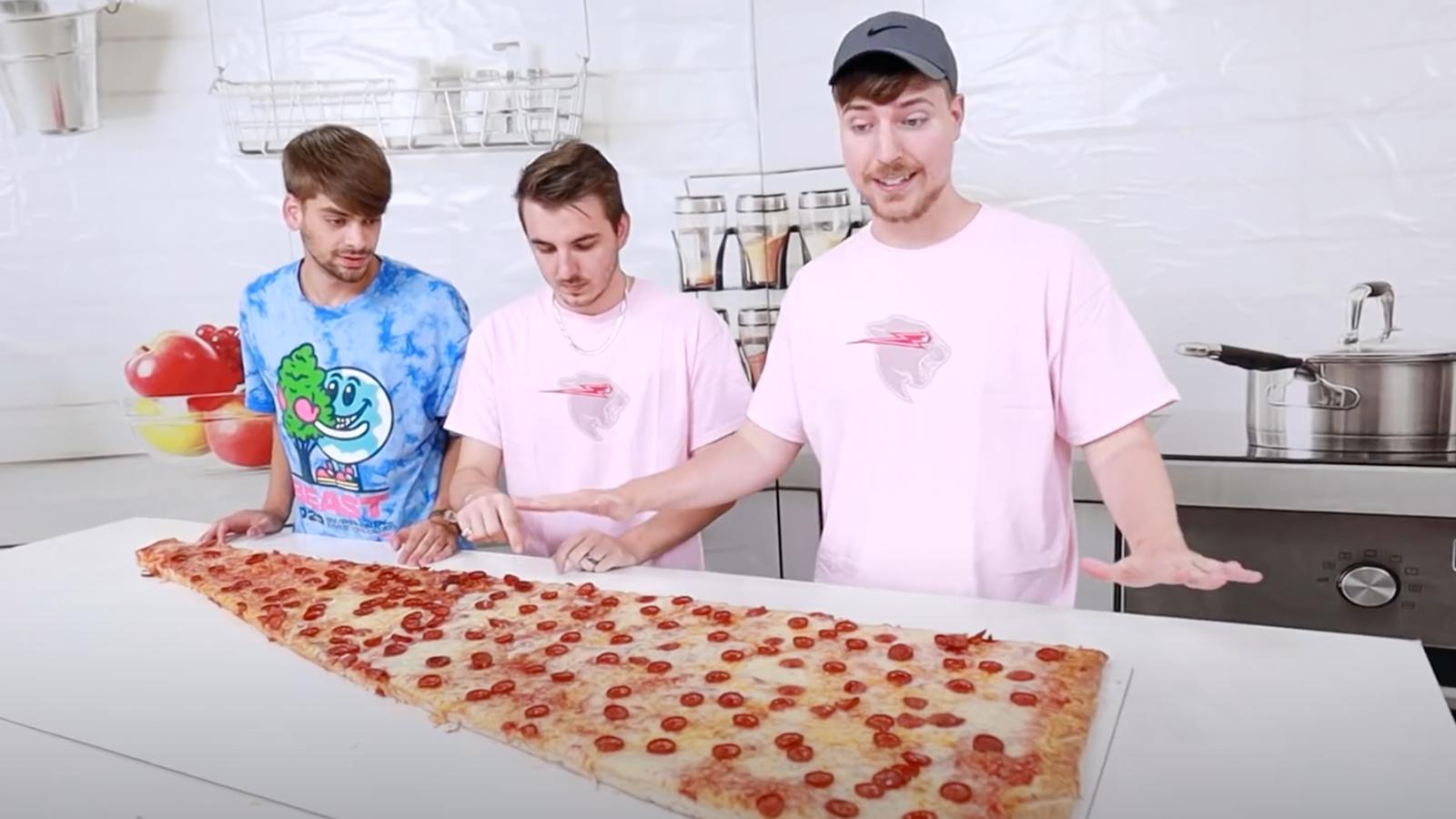 Mr Beast world's largest pizza slice