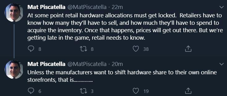 mat piscatella tweets ps5