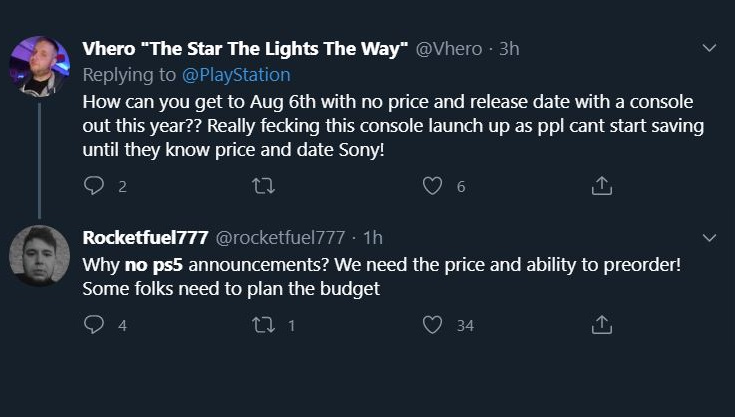 tweets about ps5