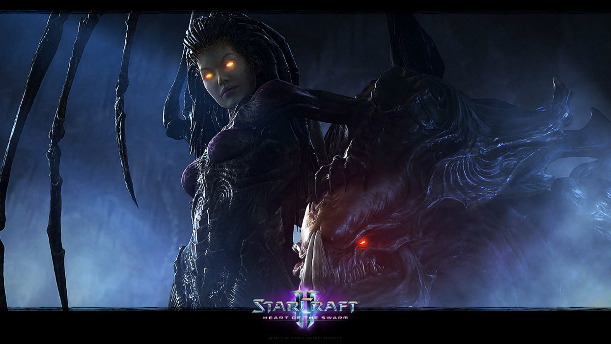 Kerrigan and a Hydralisk on Char