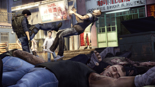 Wei Chen kicks people in Sleeping Dogs
