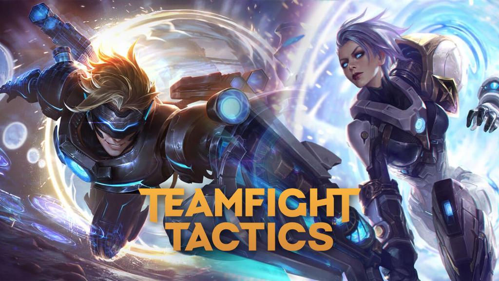 Pulsefire Ezreal and Riven in Teamfight Tactics
