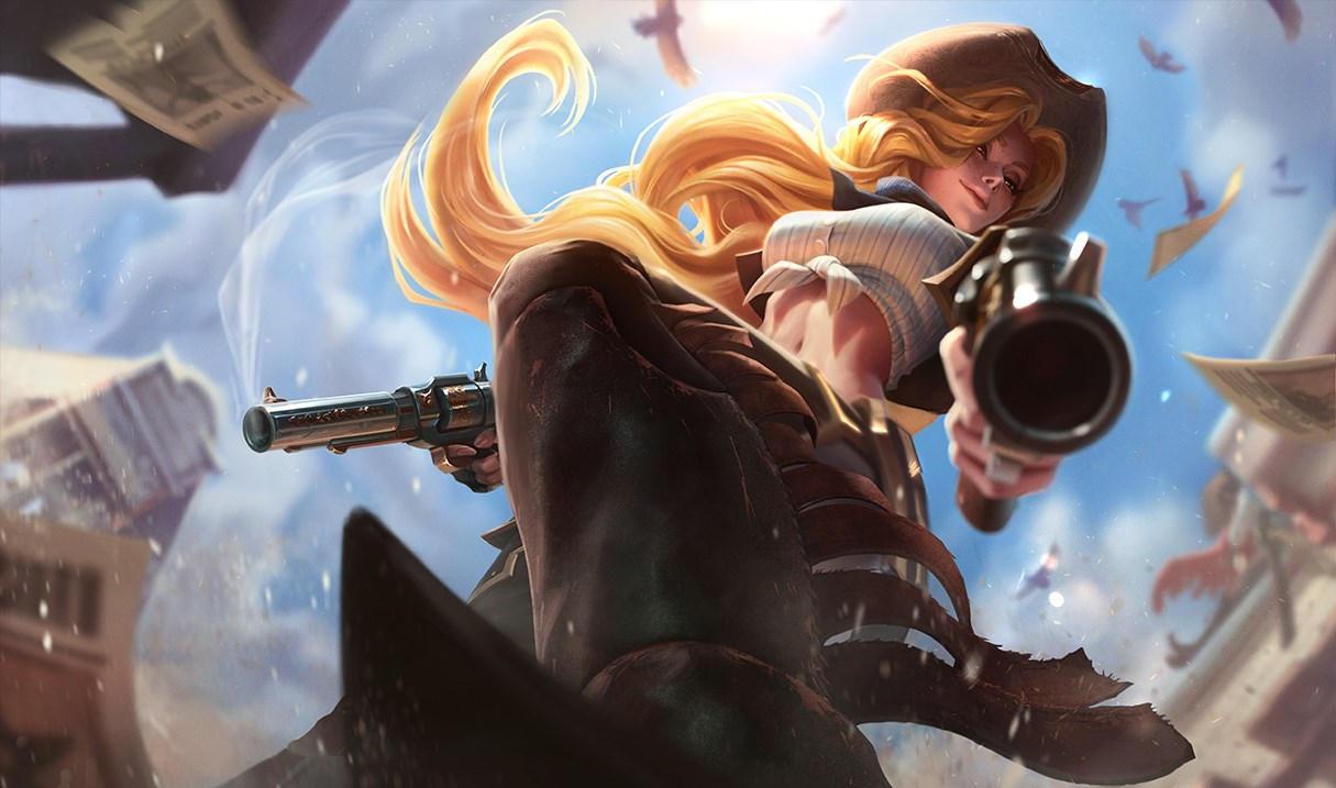 League of Legends champ 151 will apparently look a little like Miss Fortune's 'Cowgirl' skin.