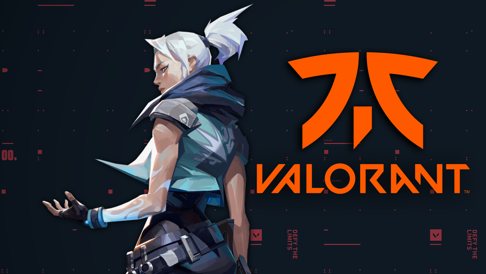 Valorant Jett artwork / Fnatic logo