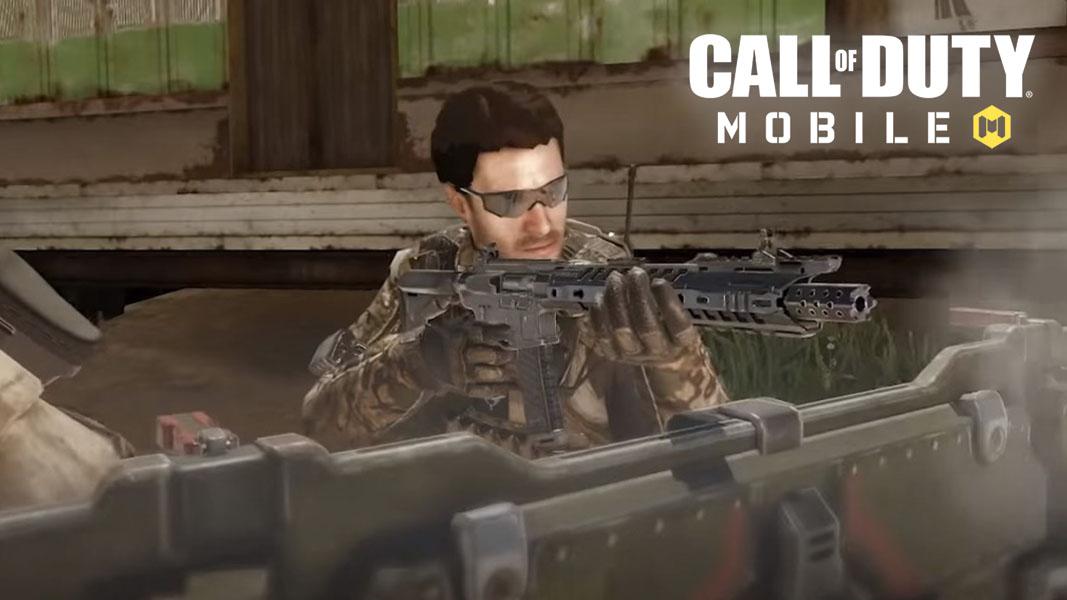 CoD Mobile character on Firing Range