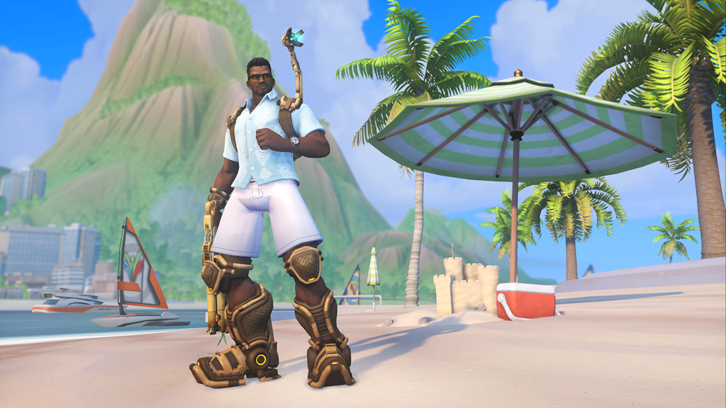 Overwatch's Baptiste in Summer Games