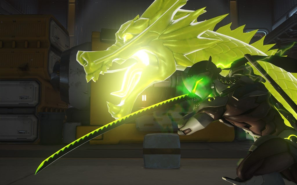 Genji uses Dragon Blade on Watchpoint