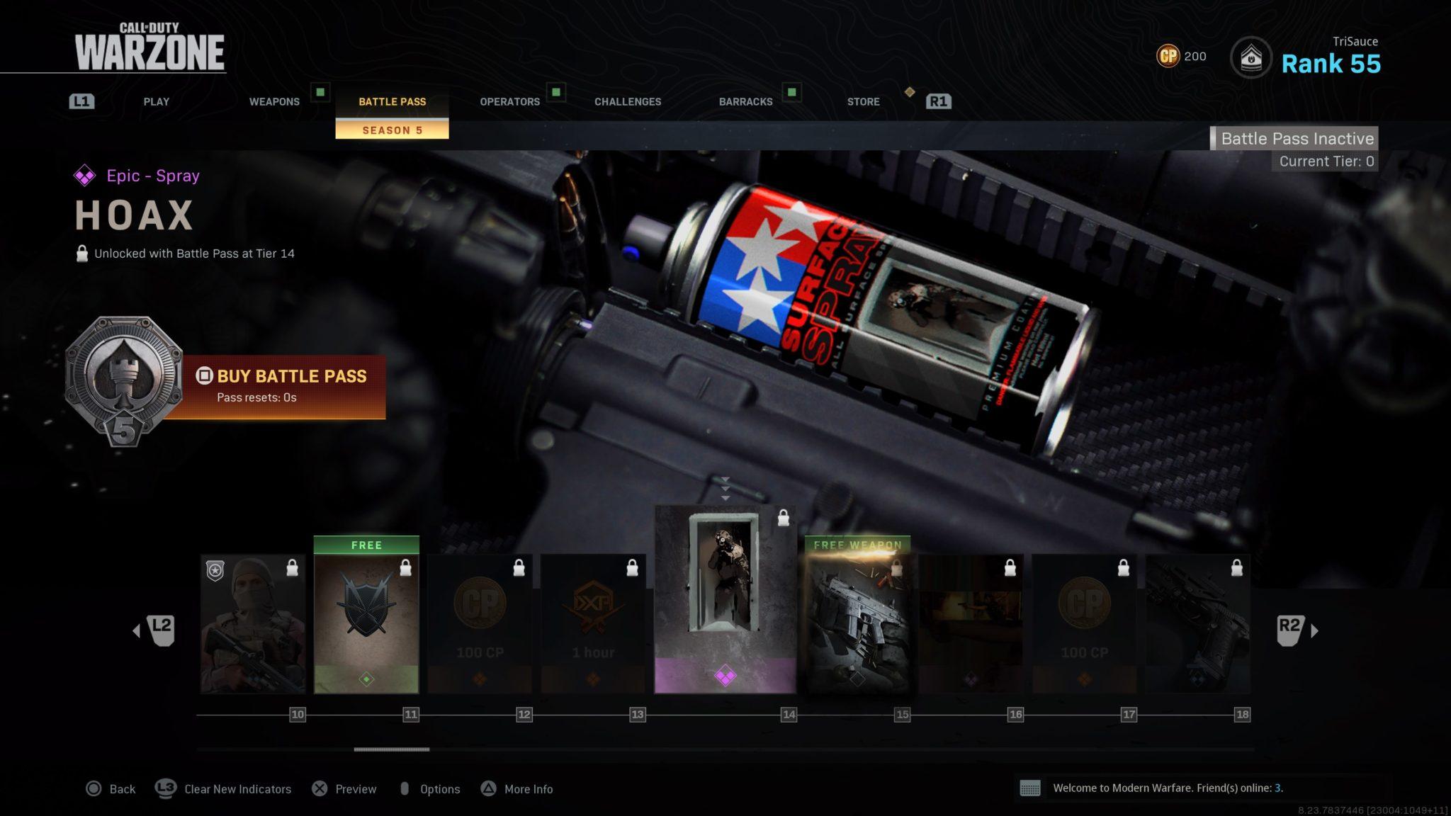 Modern Warfare Season 5 Battle Pass