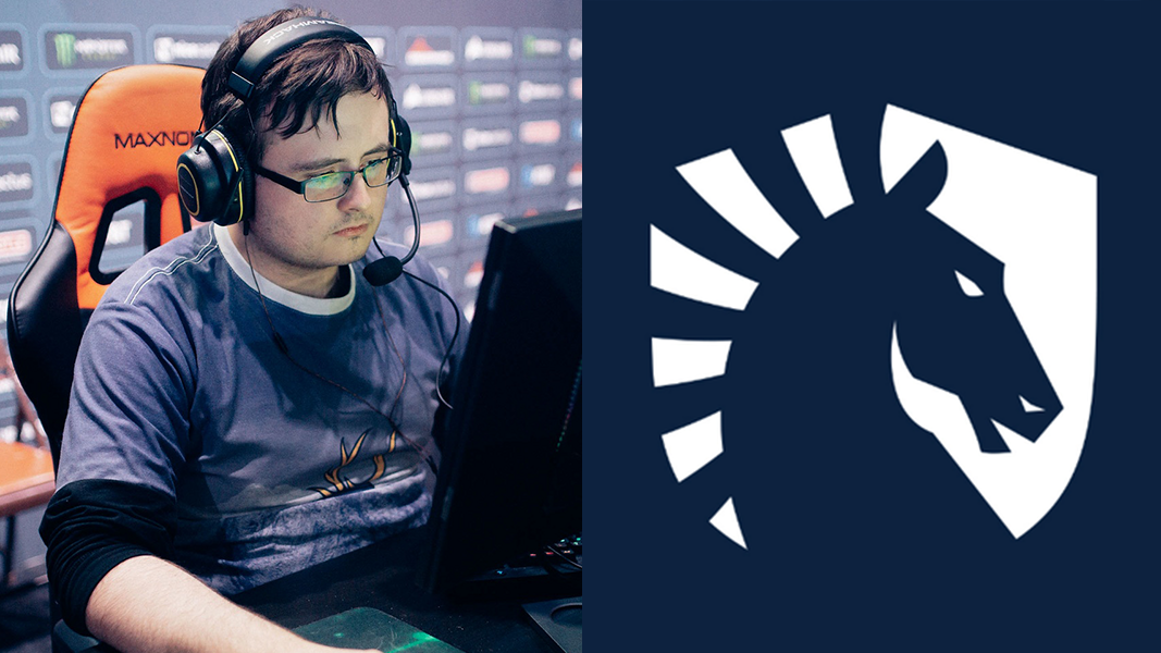 CSGO player grim and Team liquid Logo