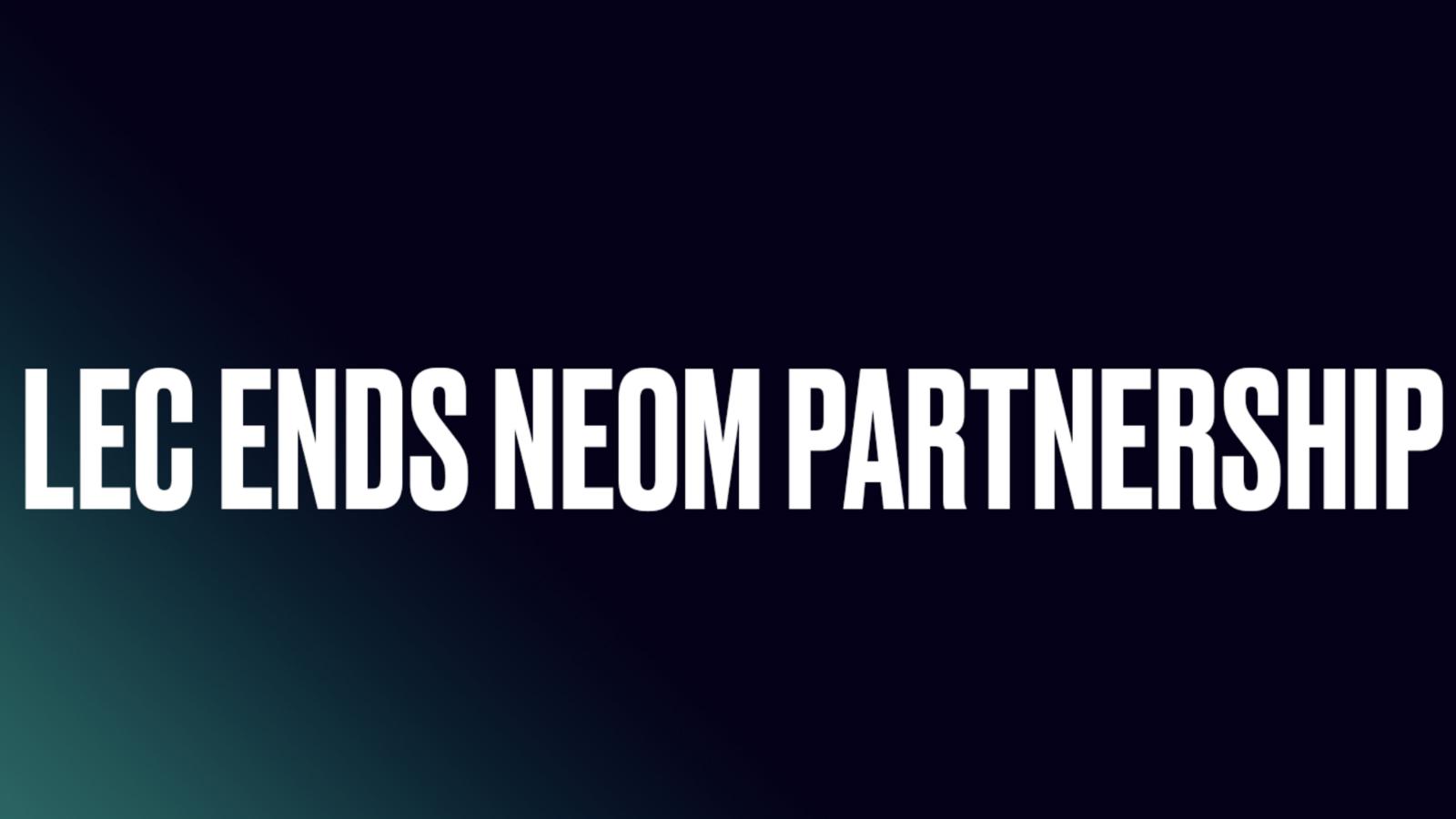 LEC ends NEOM Partnership