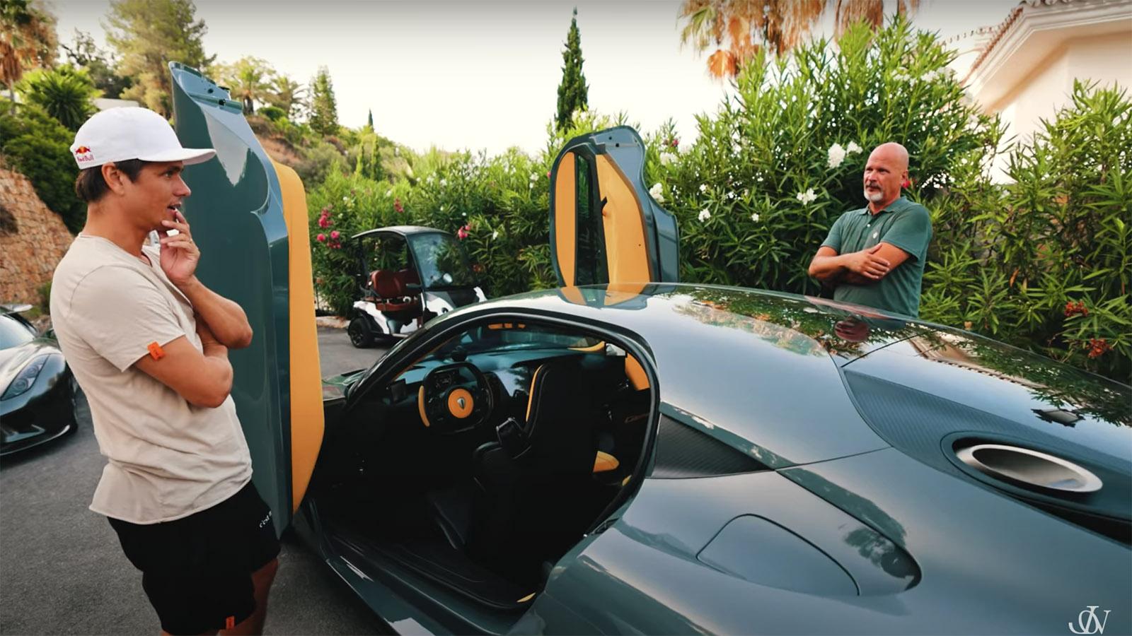 Jon Olsson with Koenigsegg Gemera